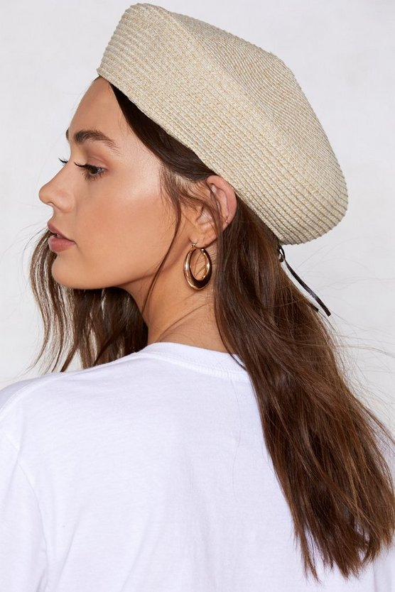 Gimme Gimme Straw Beret by Nasty Gal