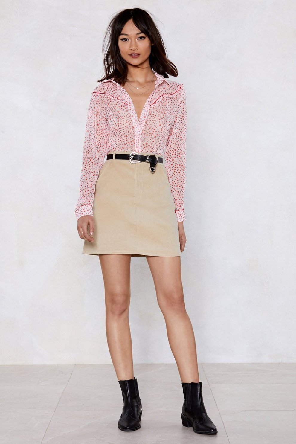 Get On Cord Mini Skirt by Nasty Gal