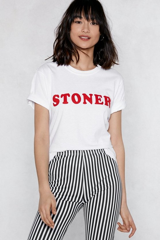 Stoner Relaxed Tee by Nasty Gal