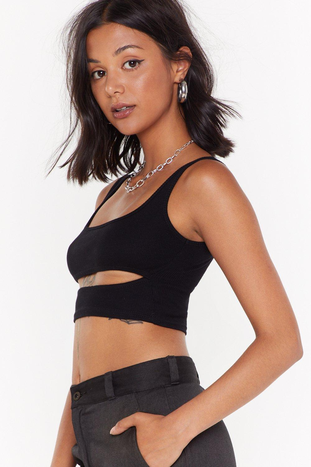 07a33455868 Cut-Out For the Count Ribbed Crop Top   Shop Clothes at Nasty Gal!