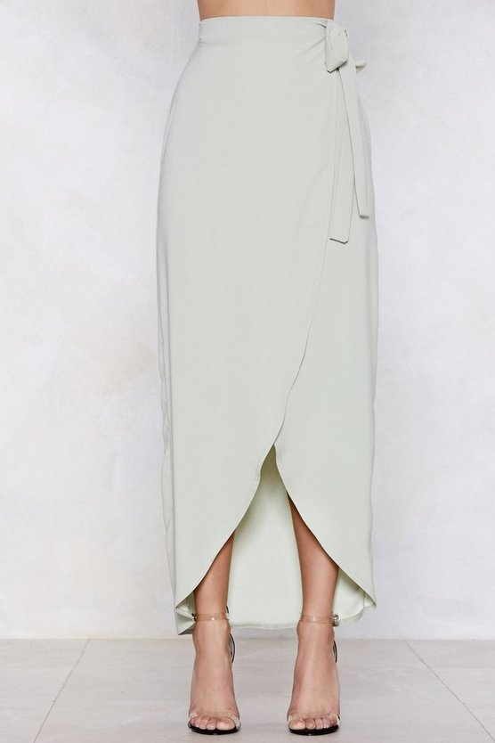 We Like Wraps Midi Skirt by Nasty Gal