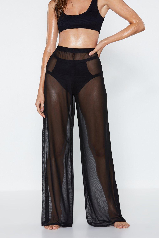 5fcfdd71d5 Plain Sailing Sheer Cover-Up Pants | Shop Clothes at Nasty Gal!