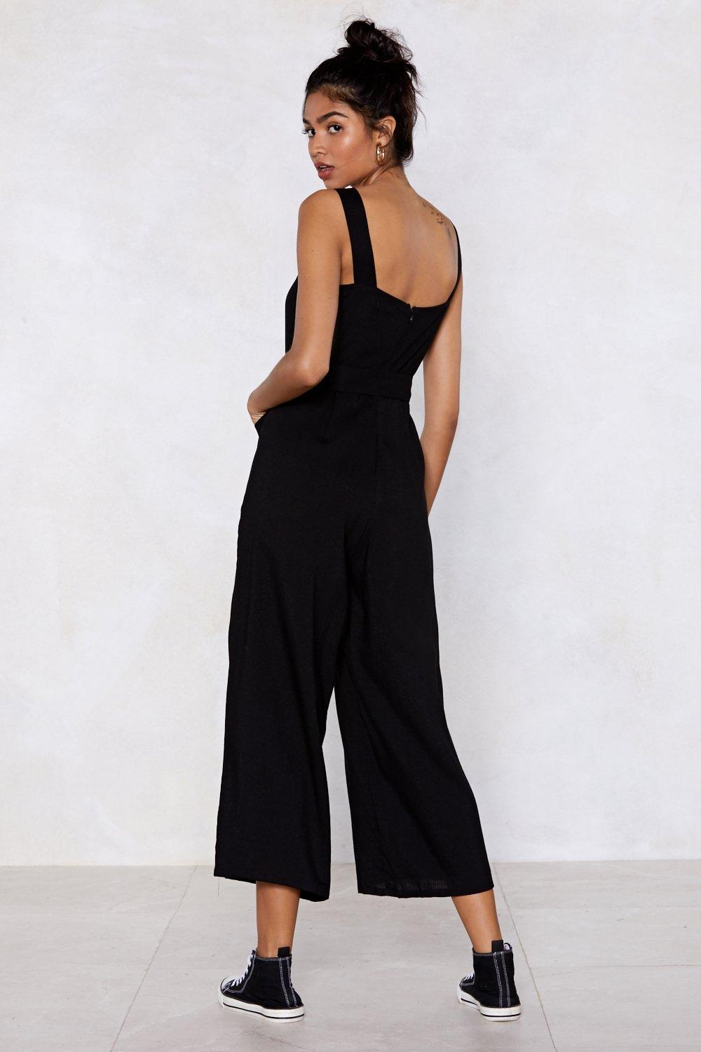bead89a8265 Bring It Button Jumpsuit