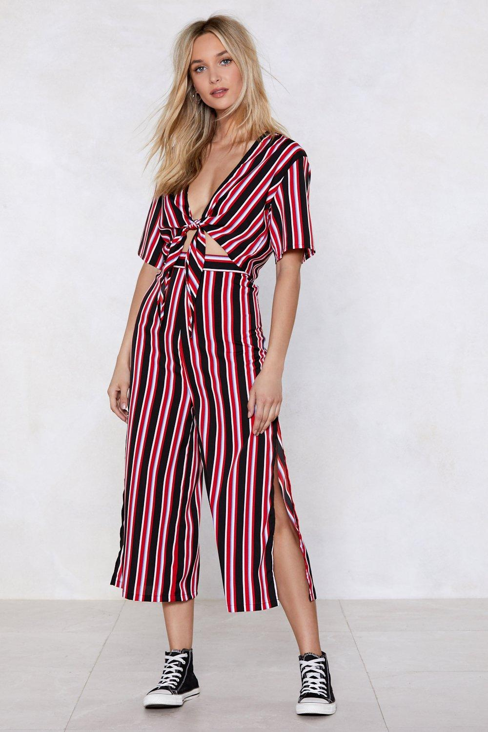 eb255ed4167 Get Straight to It Striped Crop Top and Pants Set | Shop Clothes at ...