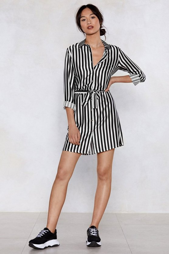 Get It Stripe Now Shirt Dress by Nasty Gal