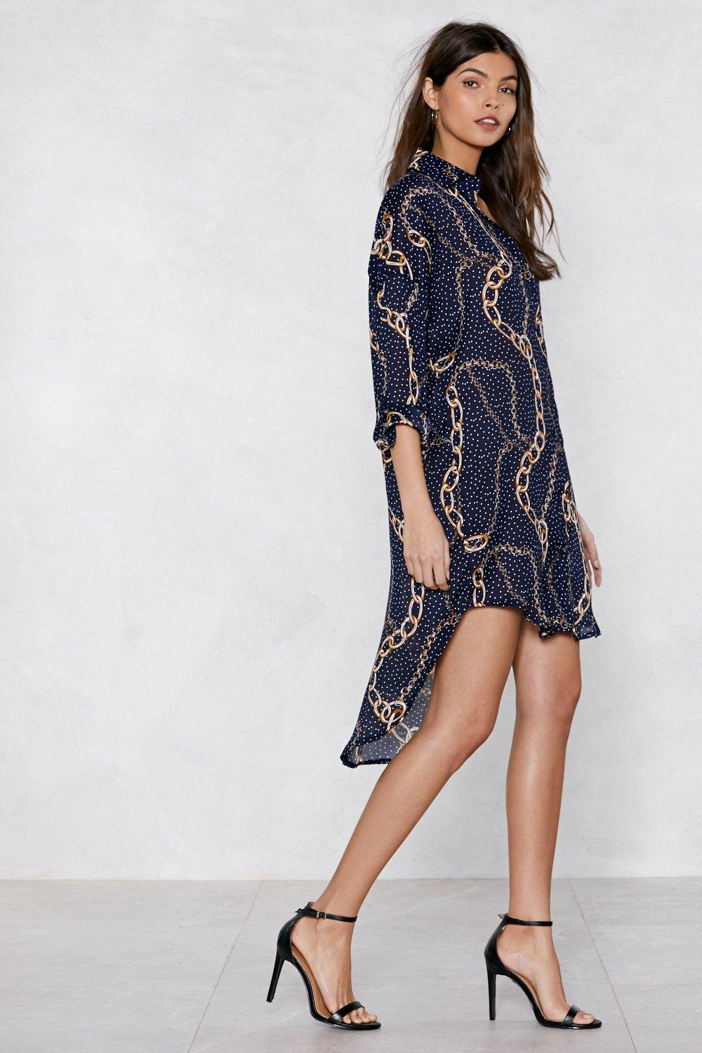 803d9328d50 Times Chain Shirt Dress. Hover to zoom