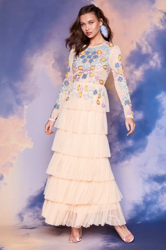 Nasty Gal Studio Mary Kate Embroidered Dress by Nasty Gal