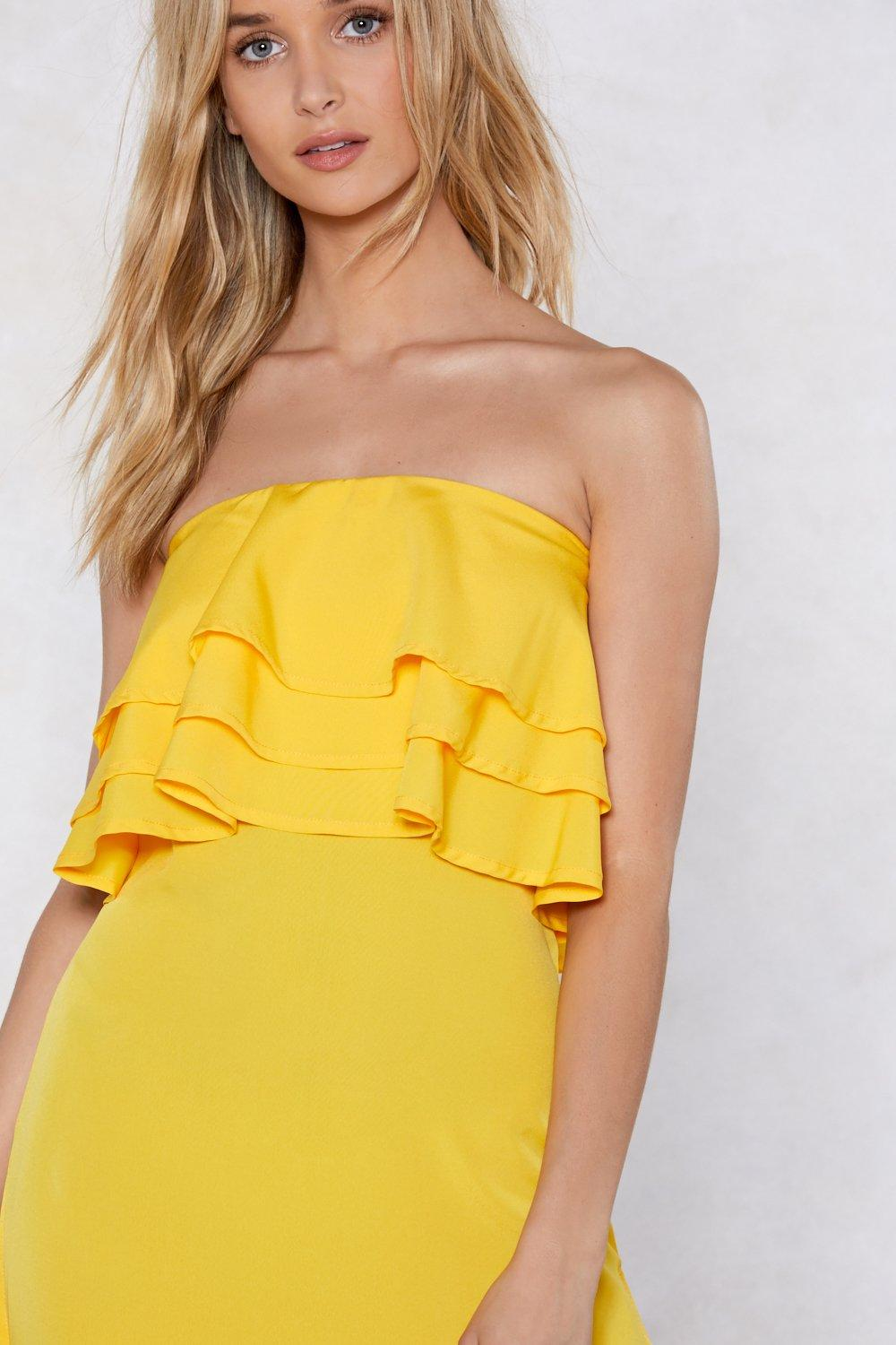 16dd06a626605 In for the Frill Strapless Dress | Shop Clothes at Nasty Gal!