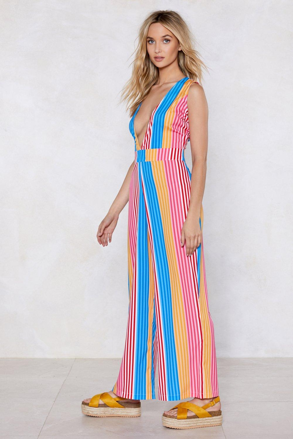 a18ce0baa6 Best Beaches Striped Cover-Up Jumpsuit | Shop Clothes at Nasty Gal!