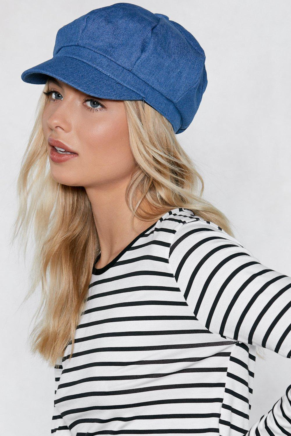 47382196 Heads or Tails Denim Newsboy Cap | Shop Clothes at Nasty Gal!