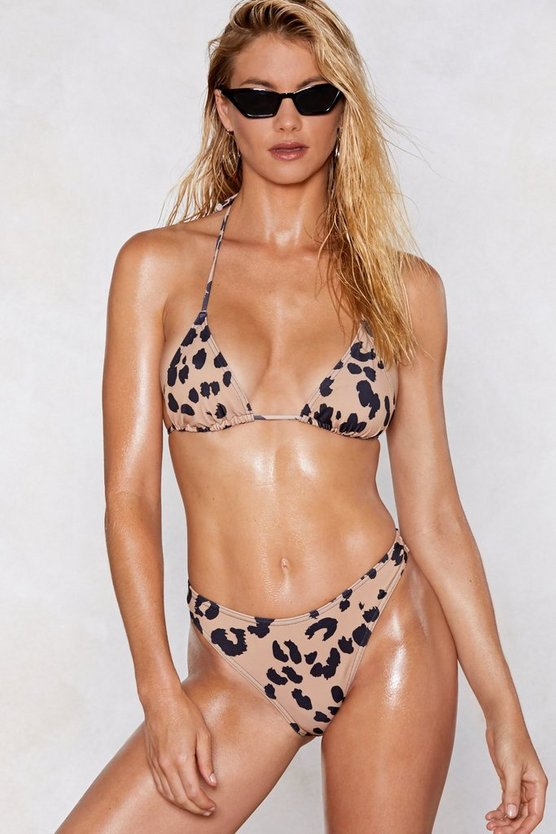 Don't Take It Purr Sonal Leopard Bikini Set by Nasty Gal