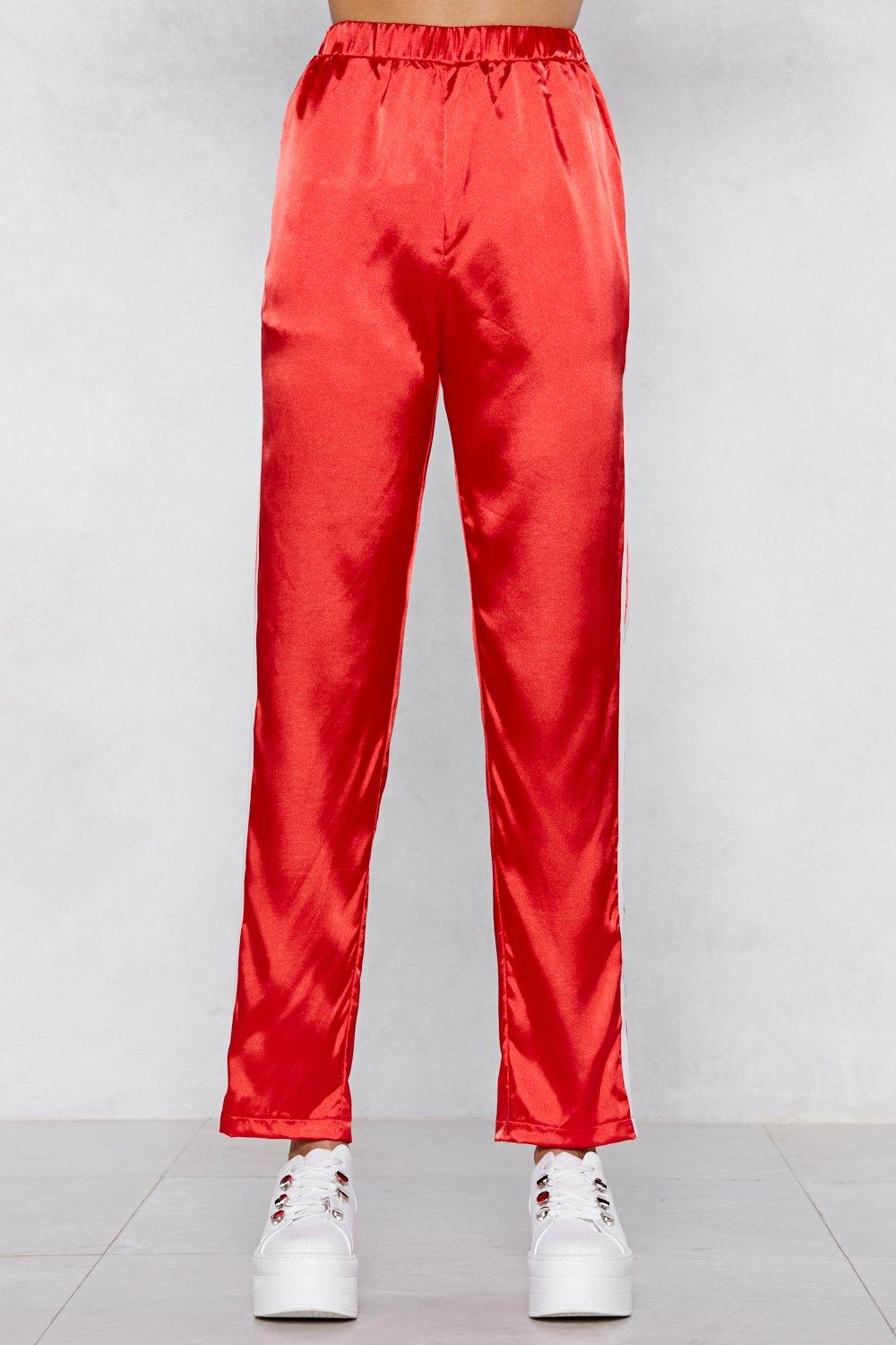 ad7bb007e34 Satin the Drivers Seat Track Pants   Shop Clothes at Nasty Gal!
