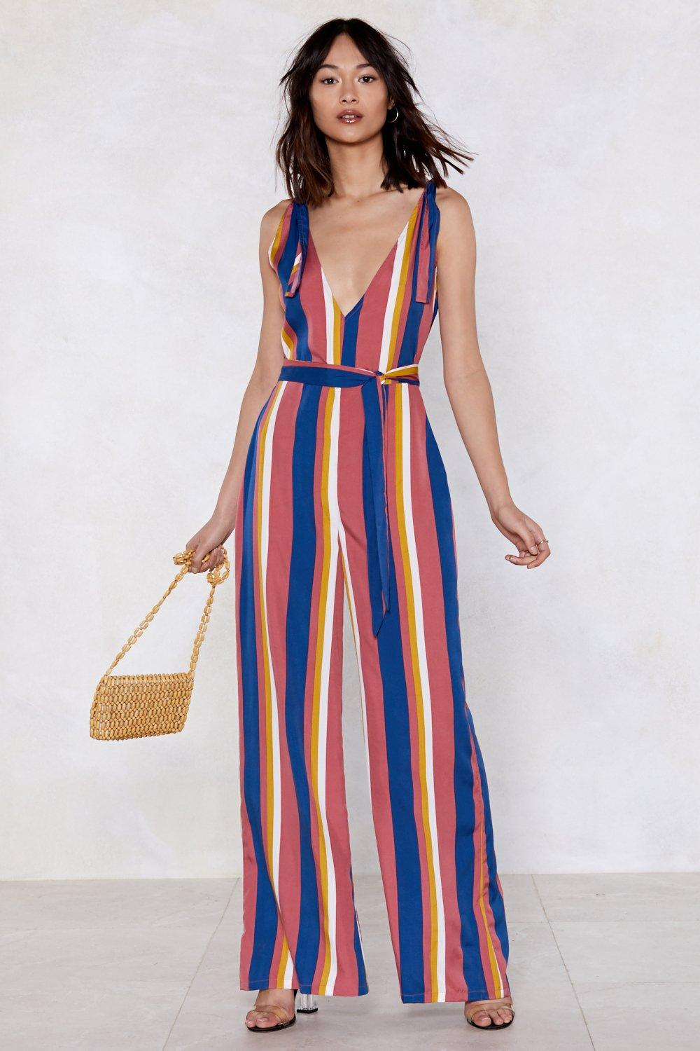 eb89c7e2614 Straight Up Striped Jumpsuit | Shop Clothes at Nasty Gal!