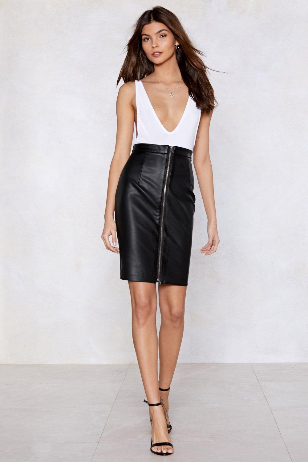41f24caa5e It's Zip-Up to You Faux Leather Skirt | Shop Clothes at Nasty Gal!