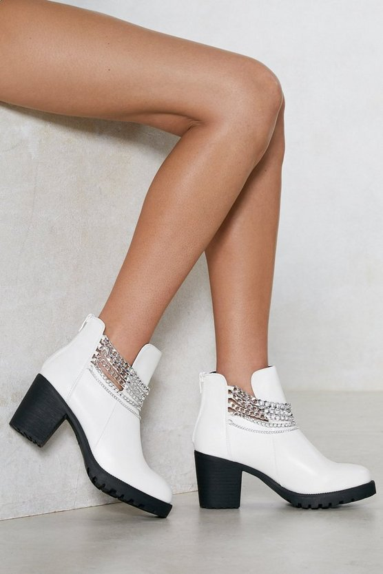 Chain It In Ankle Bootie by Nasty Gal