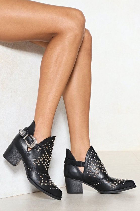 Will You Cut It Studded Boot by Nasty Gal