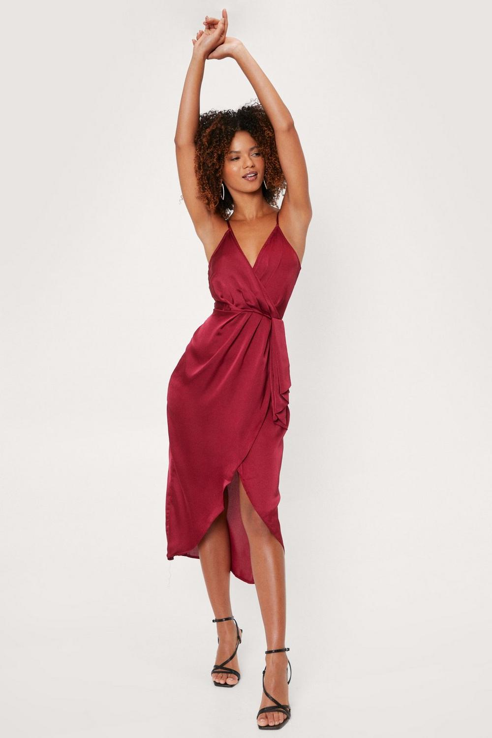 Love At First Sight Wrap Dress Shop Clothes At Nasty Gal
