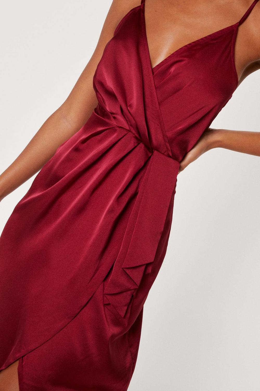 0cebb87bb6f Womens Red Love At First Sight Wrap Dress