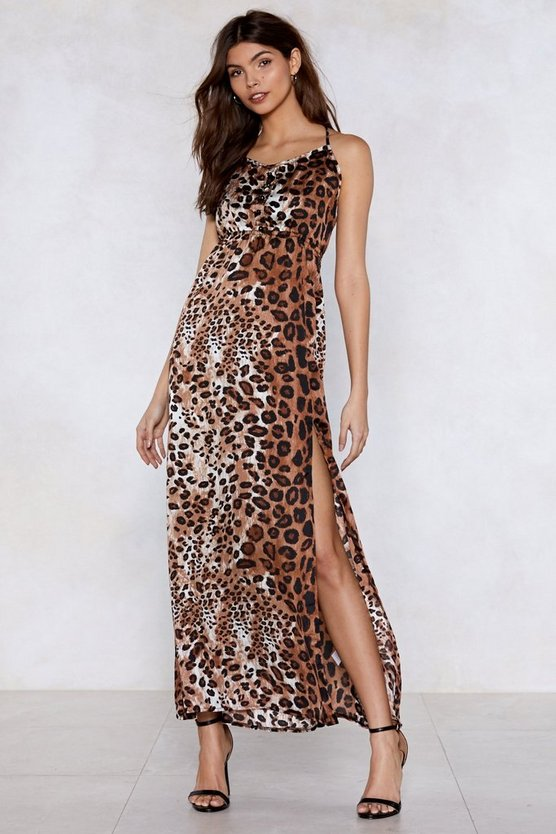 Ferocious To The Maxi Leopard Dress by Nasty Gal