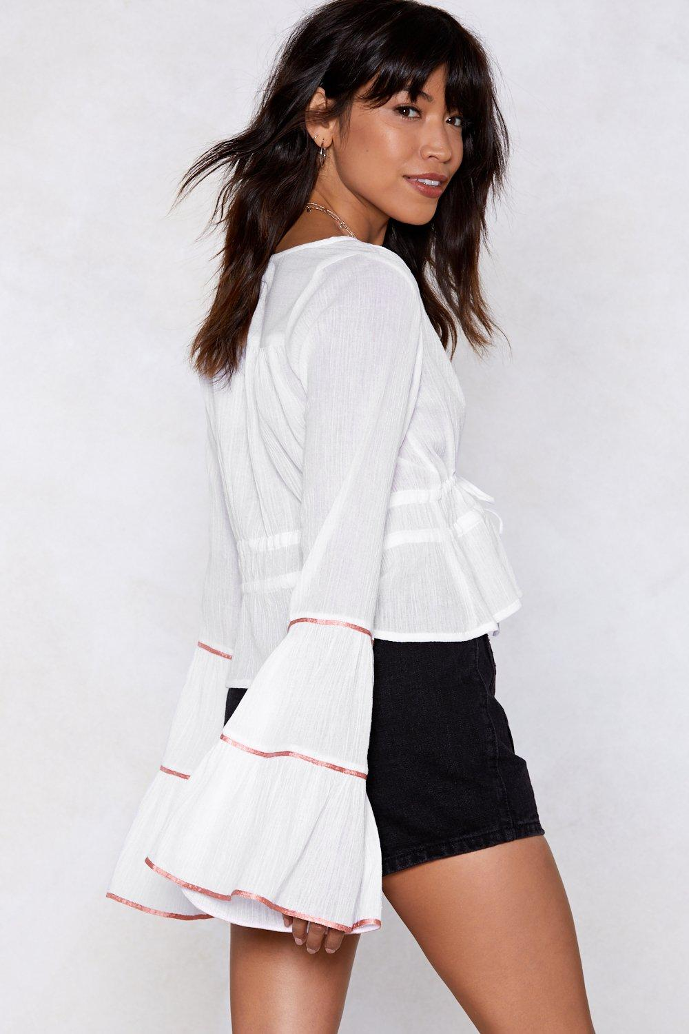 a34ad4203c660 Ring My Bell Sleeves Blouse. Hover to zoom