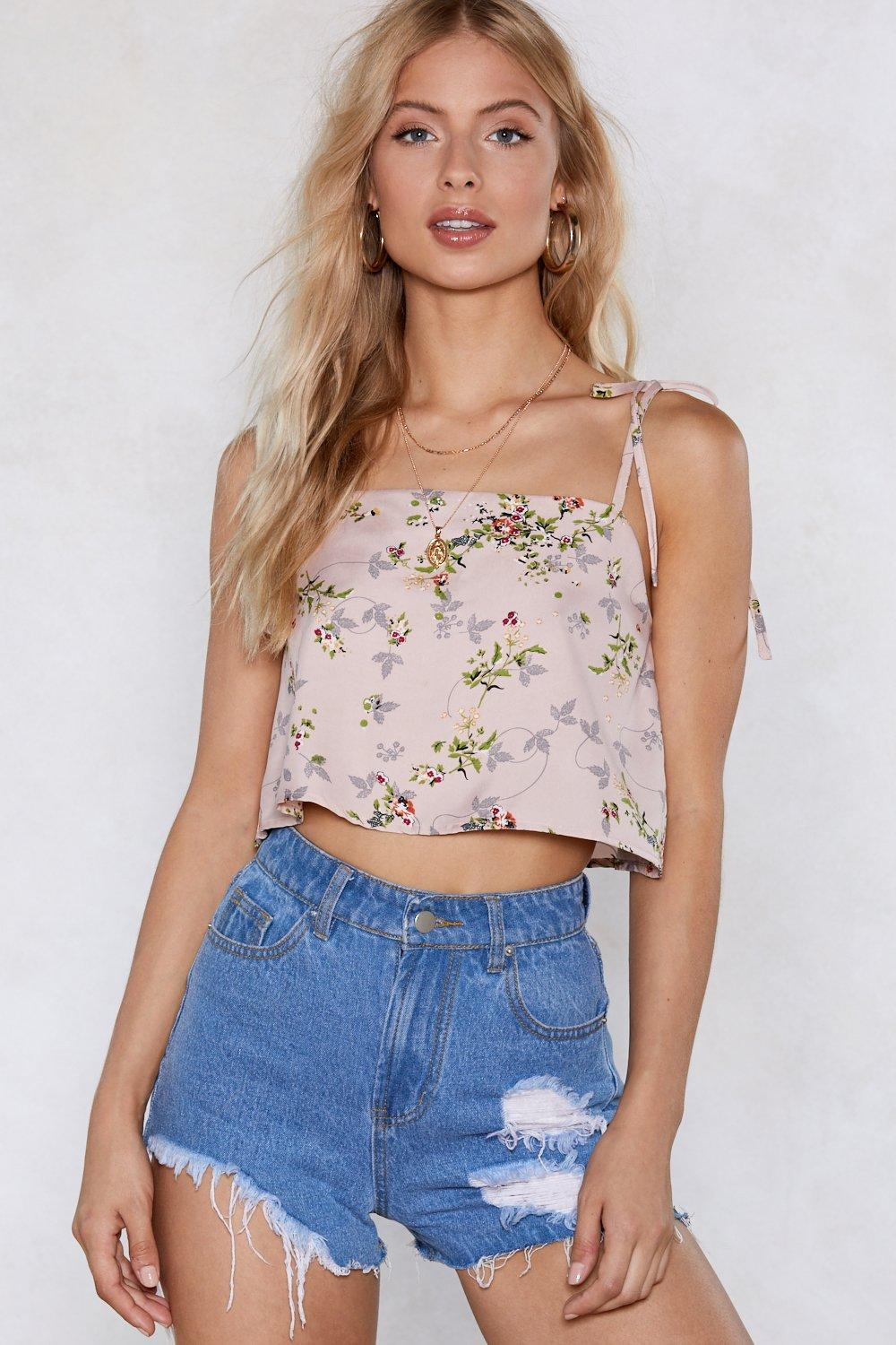 all set to grow floral cami top shop clothes at nasty gal