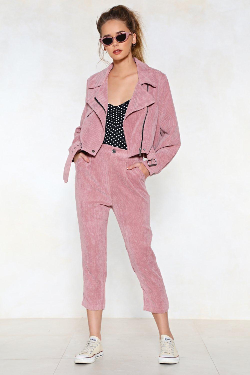 the best attitude c32ce 69ac6 Womens Pink Before You Act Corduroy Pants