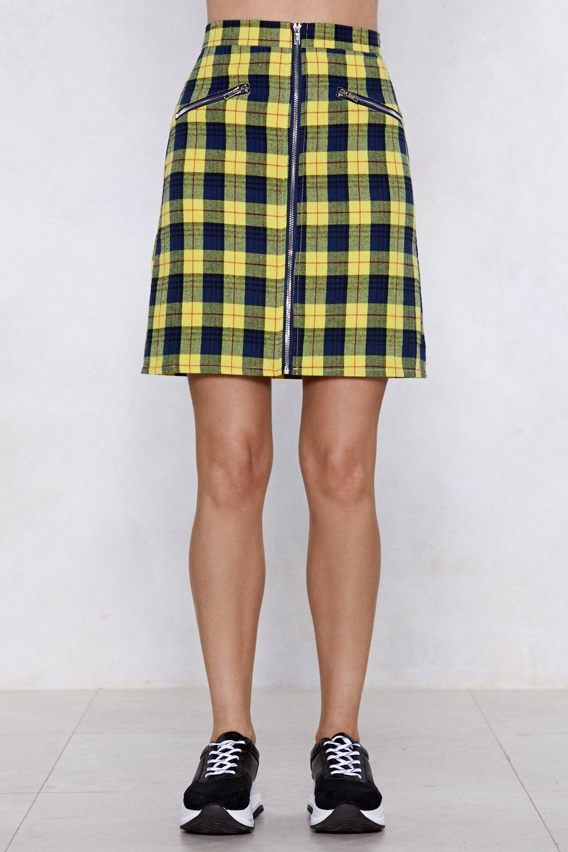 Do You Believe Tartan Skirt