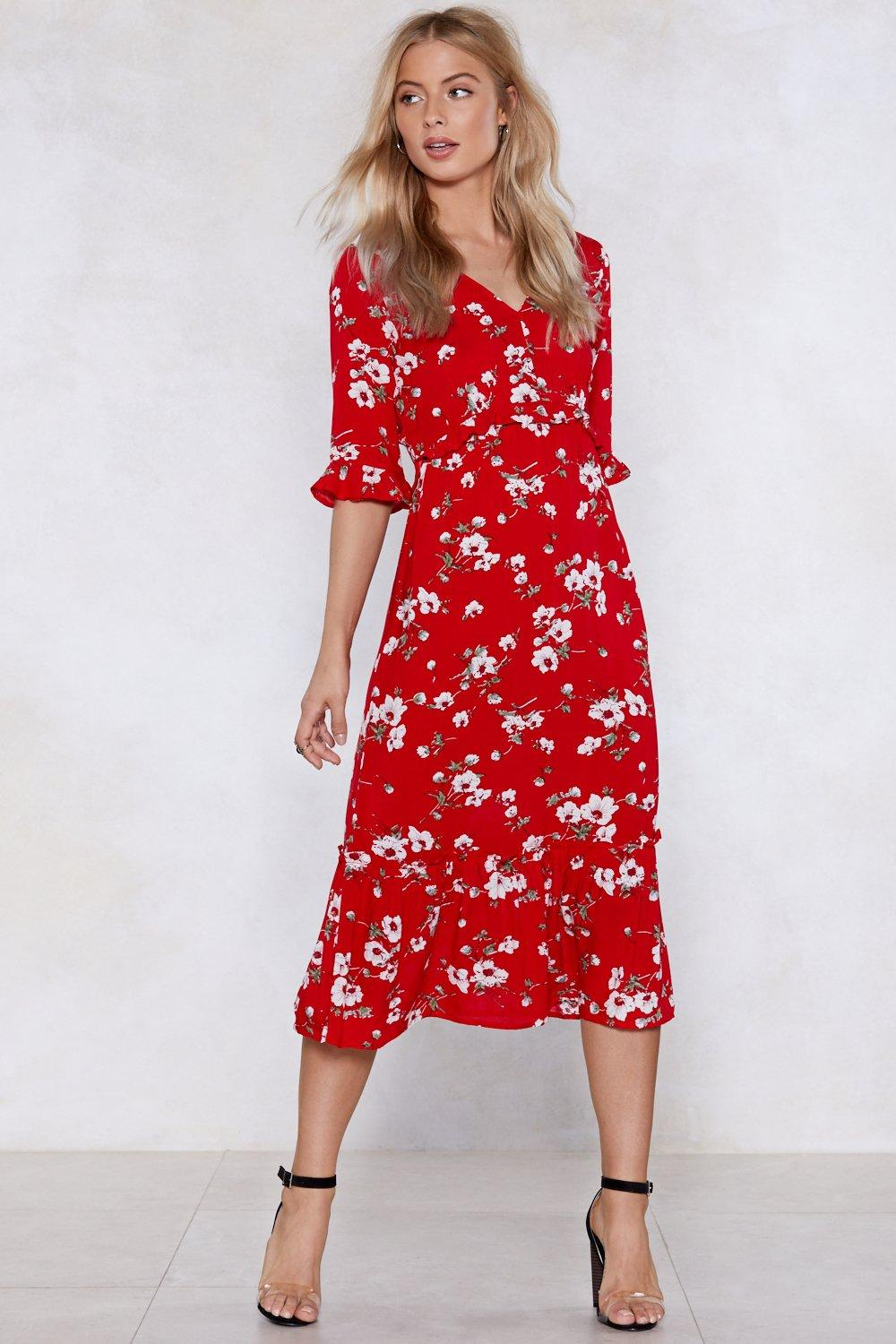 2422256f2d1c1 Are You Floral Right Now Midi Dress | Shop Clothes at Nasty Gal!