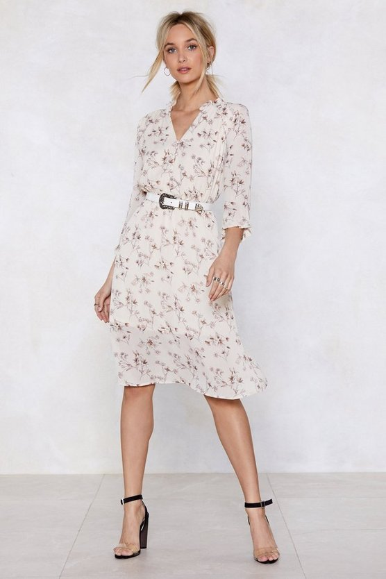 Flower Me With Compliments Midi Dress by Nasty Gal