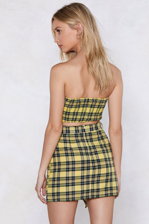 2a7b844f1253 Way to Bow Tartan Crop Top and Skirt Set | Shop Clothes at Nasty Gal!