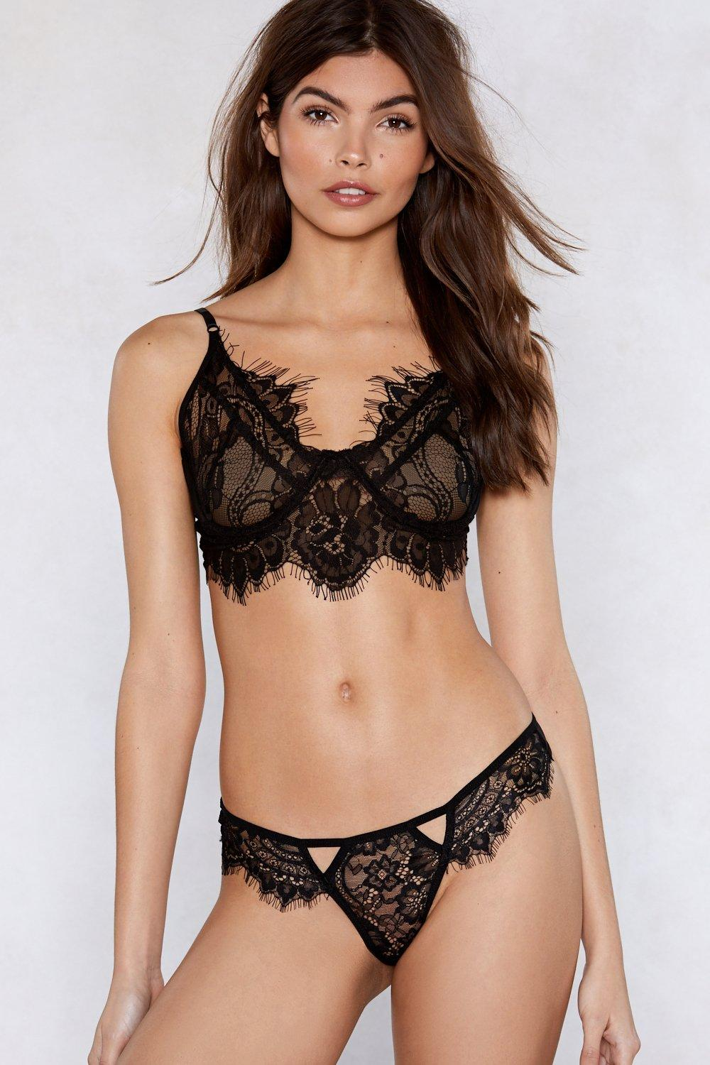 cf293b0d8c67d Go At My Lace Bralette and Panty Set