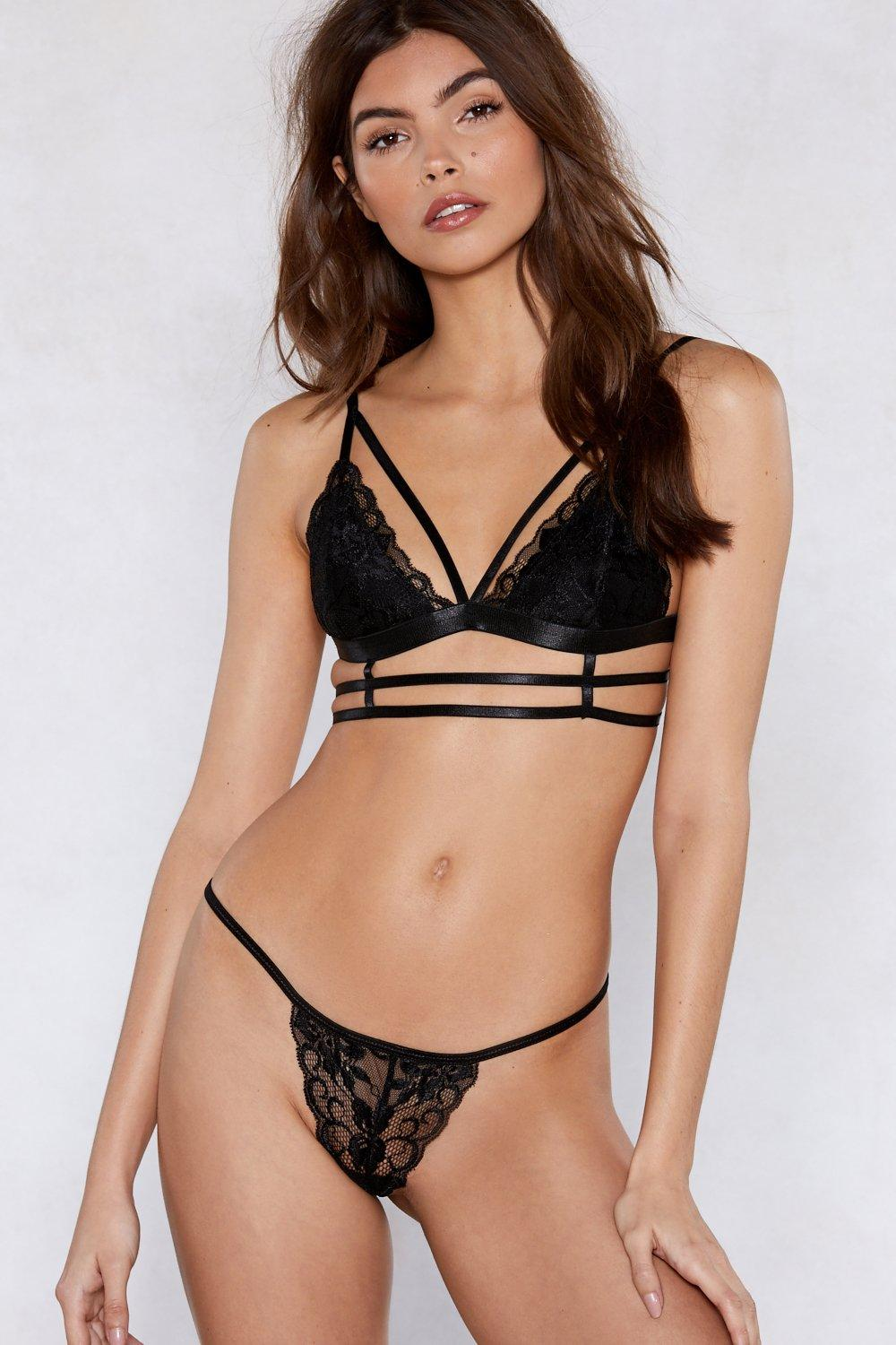 9ea9214279a1 Caged Strappy Lingerie Set