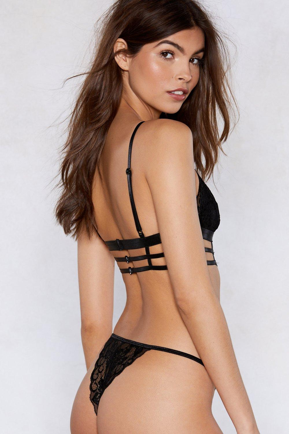 ed1195eb86 Caged Strappy Lingerie Set