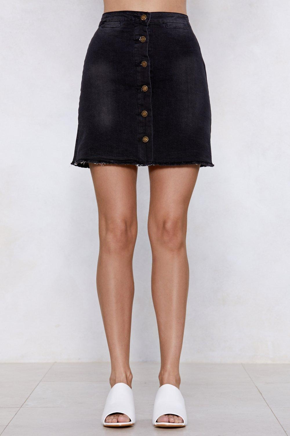 5ae315de6 Walk on the Wild Side Denim Skirt   Shop Clothes at Nasty Gal!