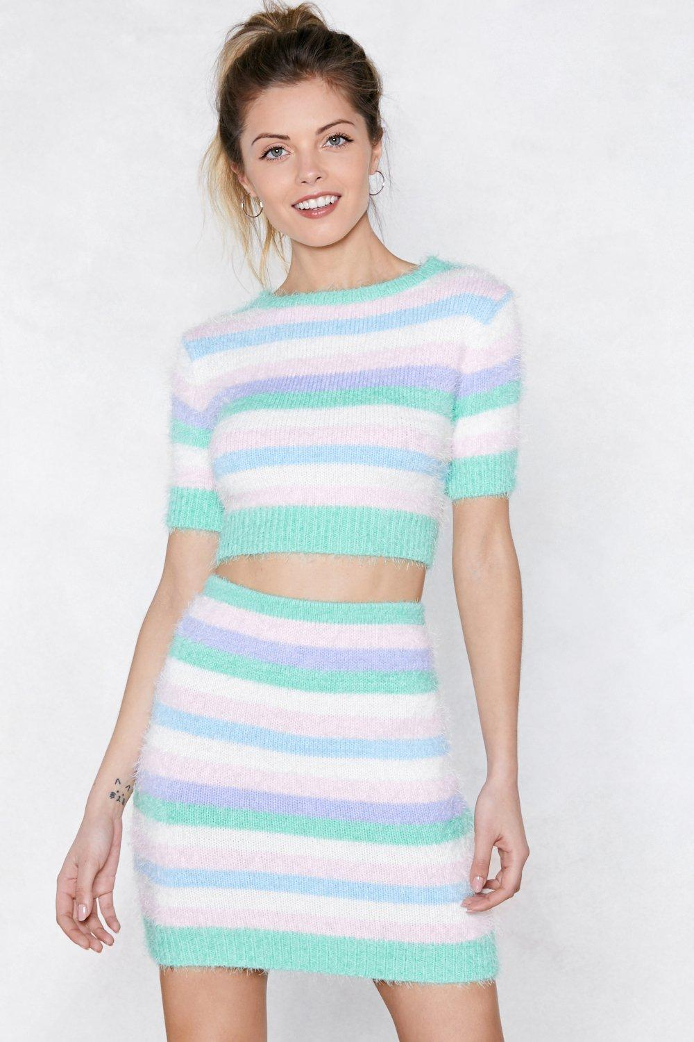 Get On Knit Crop Top And Skirt Set Shop Clothes At Nasty Gal