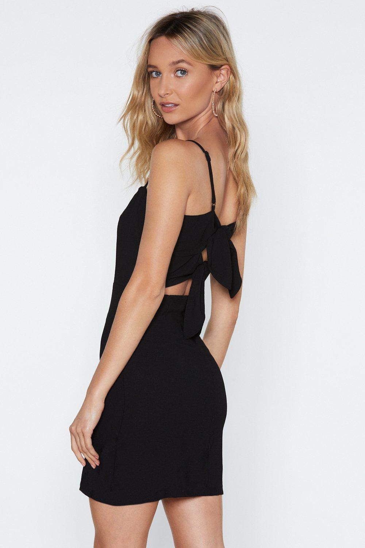 Square Black Mini Dress