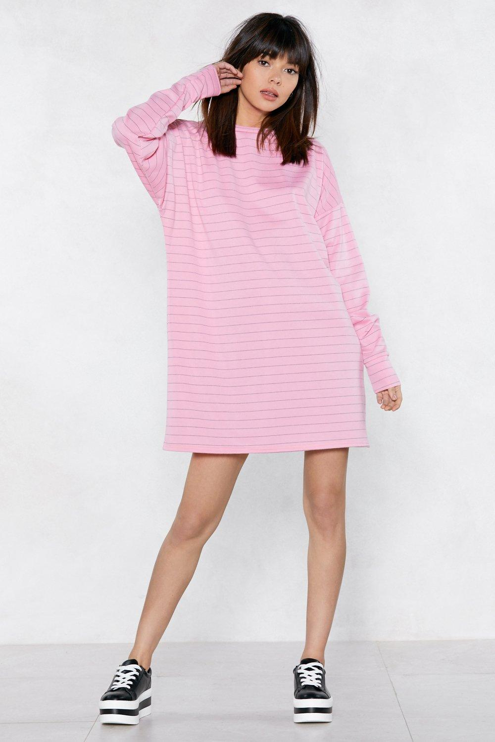 ae91135de4d Womens Baby pink Everythings Better in a Striped Sweater Dress