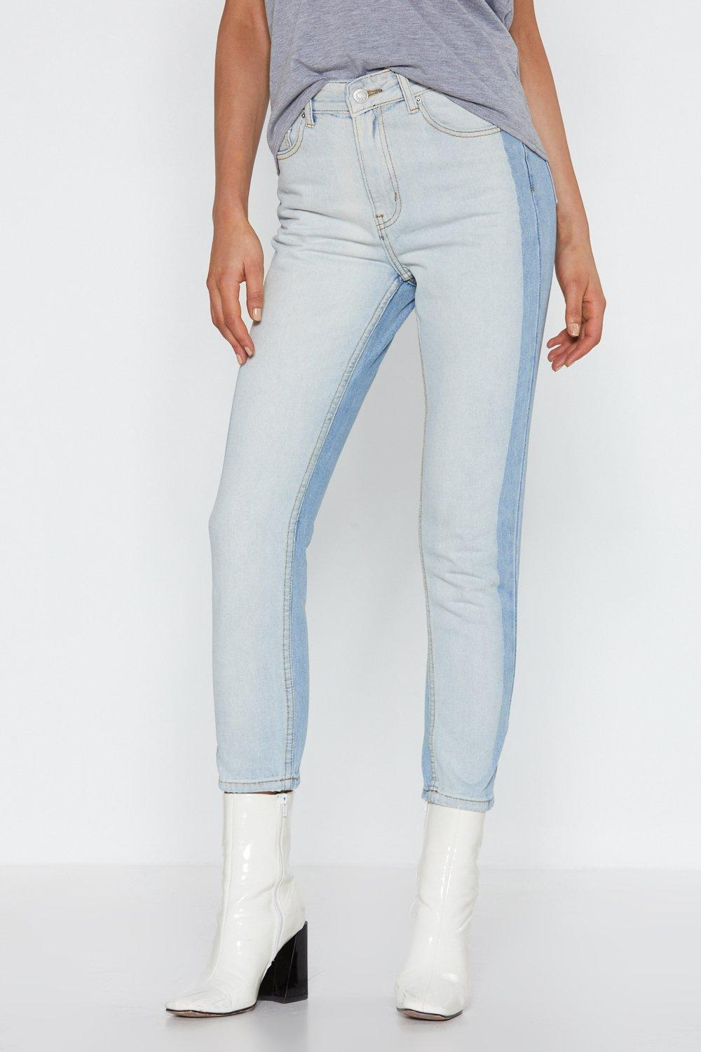 two can play at that game two tone jeans shop clothes at nasty gal