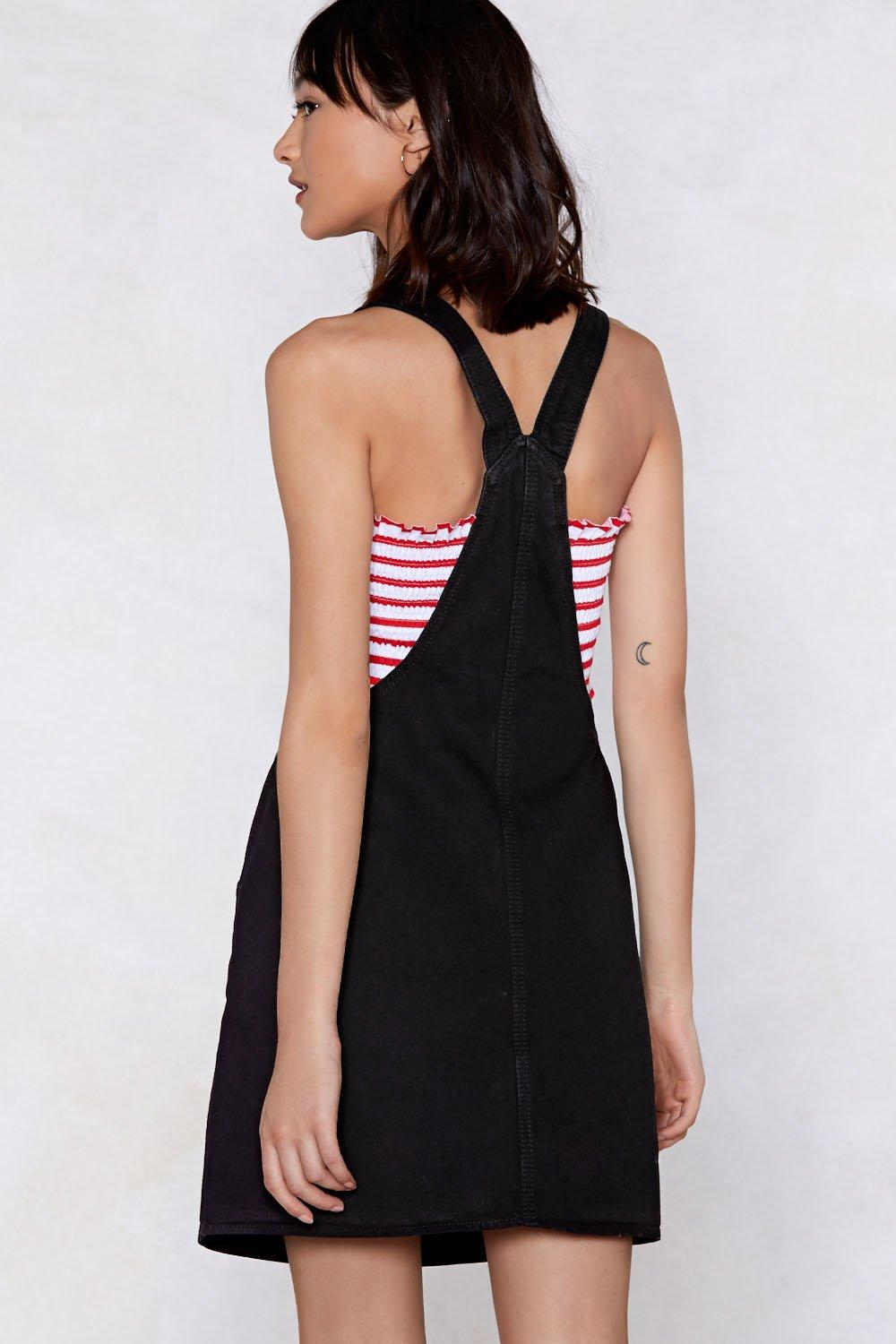 ba51f4a508 Pinafore Your Hopes On Me Denim Dress. Hover to zoom