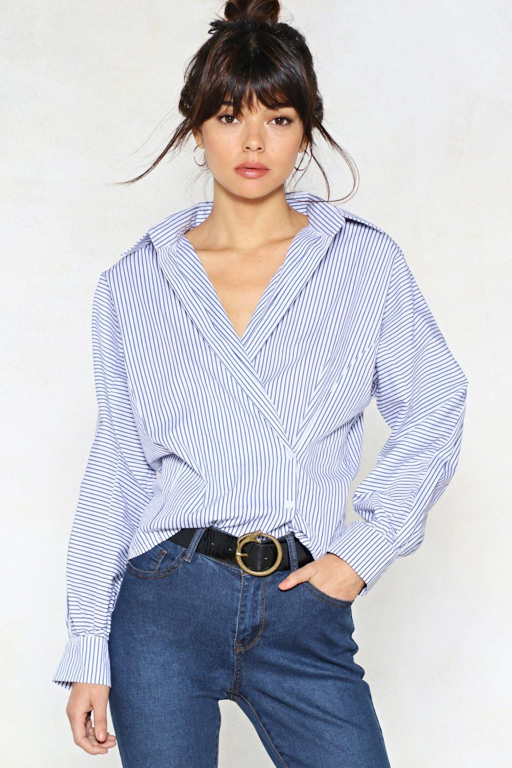 8782acc110a4 Open to Suggestions Striped Shirt | Shop Clothes at Nasty Gal!