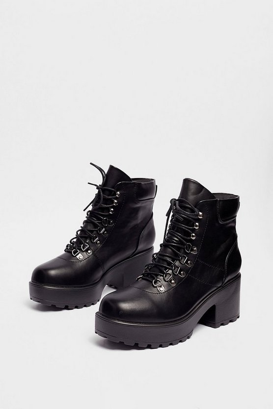 Walk On By Faux Leather Boot by Nasty Gal
