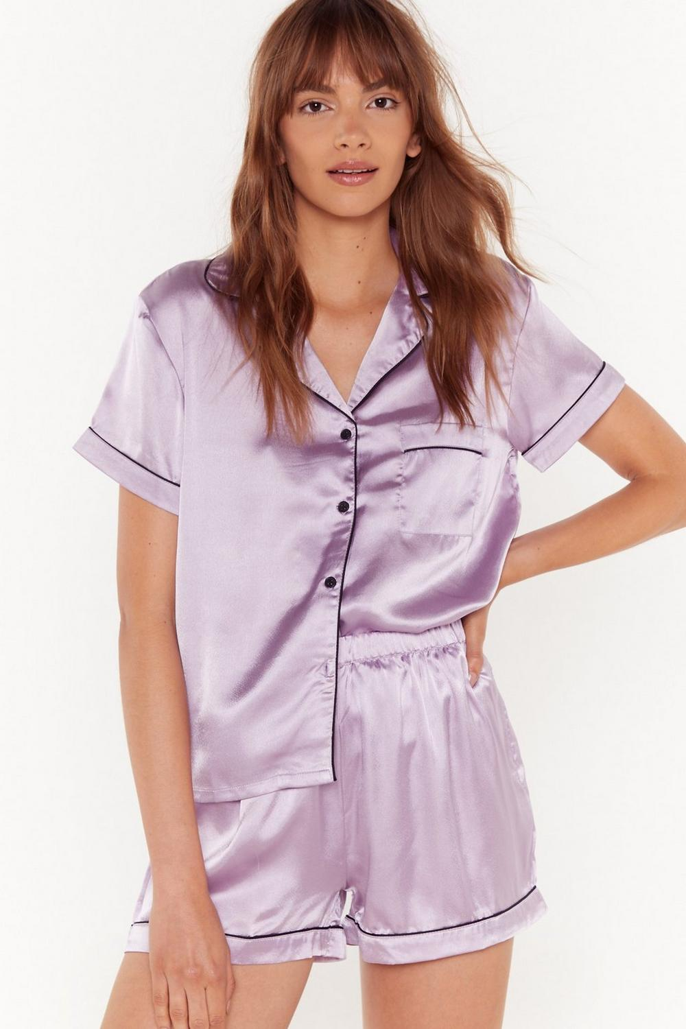 02f1163cd8c Womens Lilac Satin Chilling Out Pajama Set