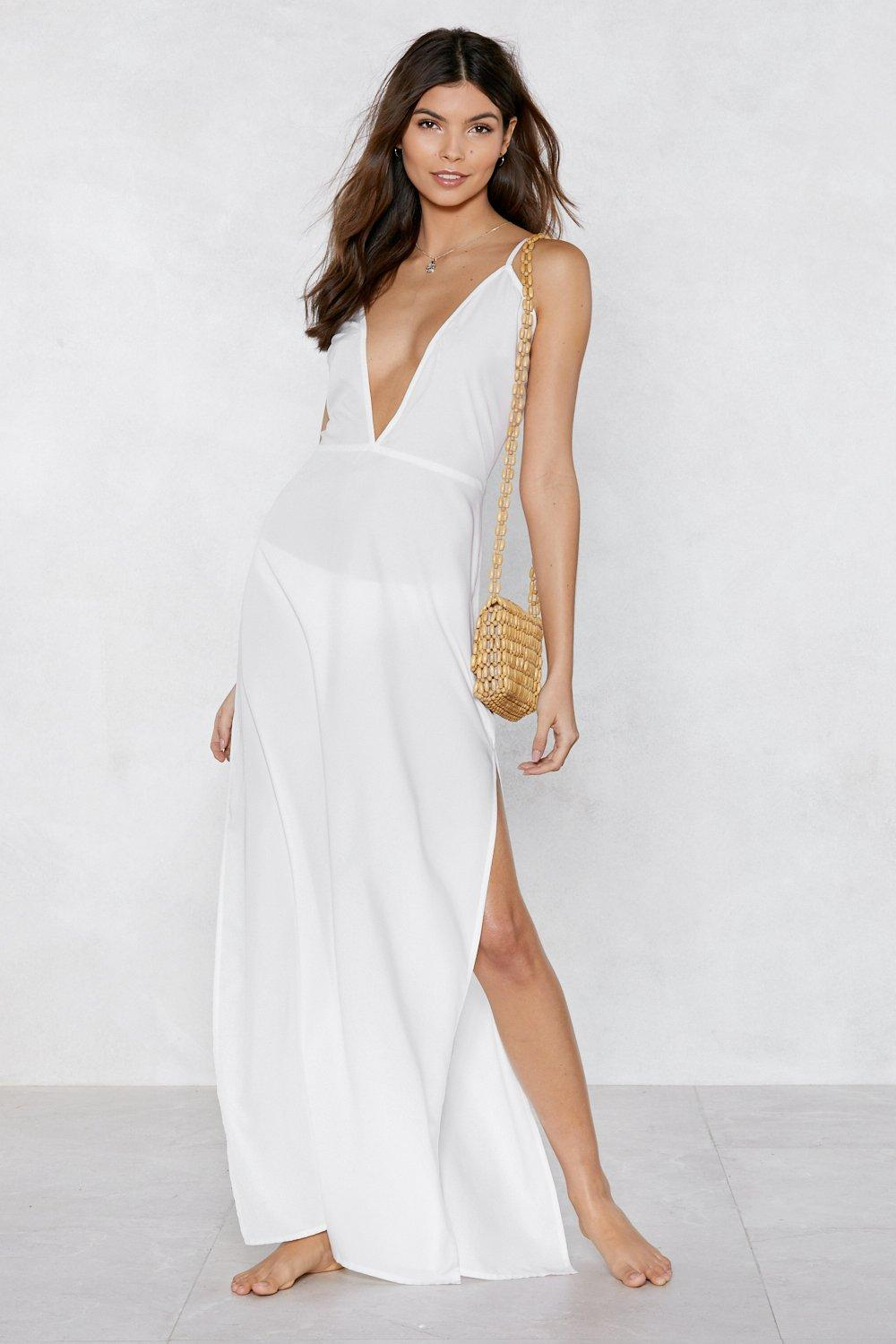 904fbe4941321 Beaches Rule Maxi Cover-Up Dress | Shop Clothes at Nasty Gal!