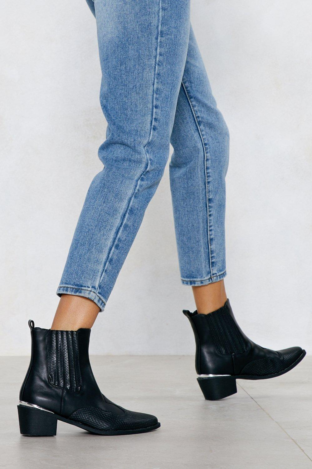 a4a4a9902c9 I Love Croc  N Roll Faux Leather Boot