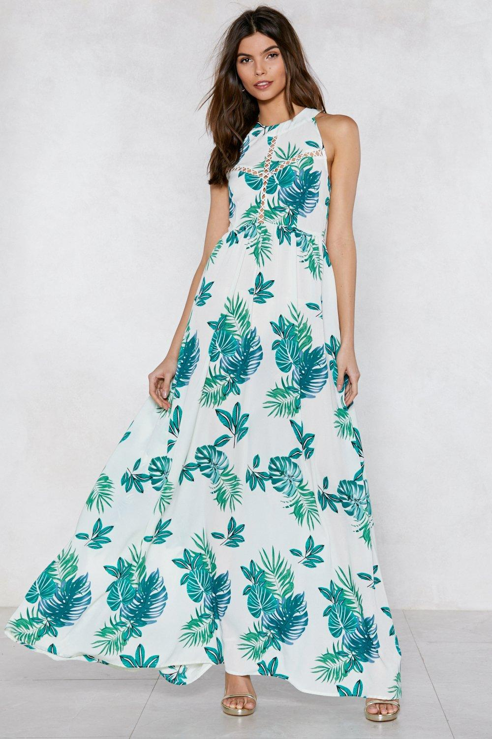 bf72559a468 Womens Green Do You No Palm Maxi Dress. Hover to zoom