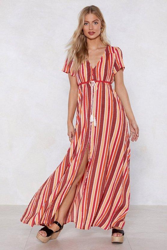 A Stripe Girl Through And Through Maxi Dress by Nasty Gal