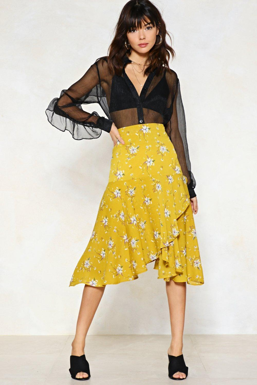 04d153007b You're My Bud Floral Midi Skirt | Shop Clothes at Nasty Gal!