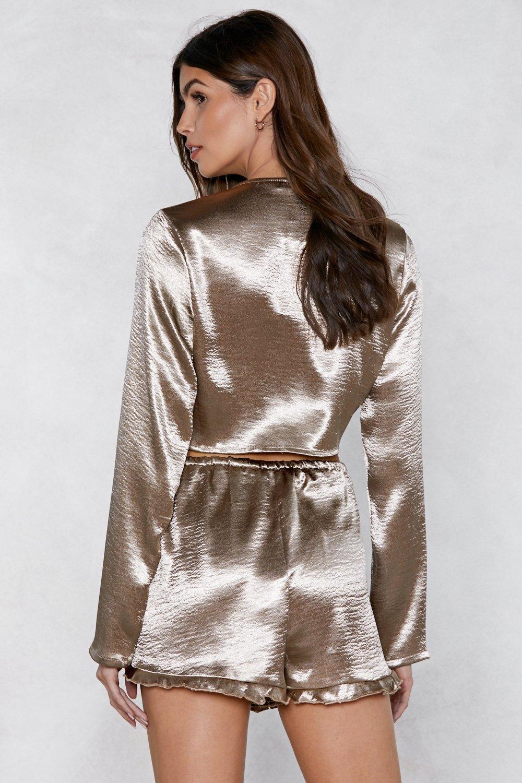 94f25ce1485 Good Glowing Metallic Crop Top | Shop Clothes at Nasty Gal!