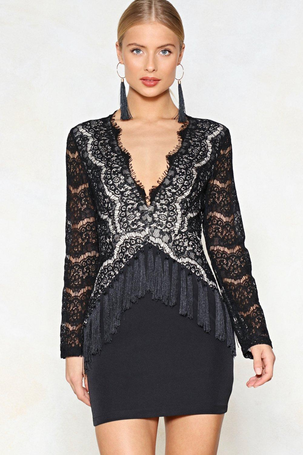 Youre So Deep Tassel Dress Shop Clothes At Nasty Gal