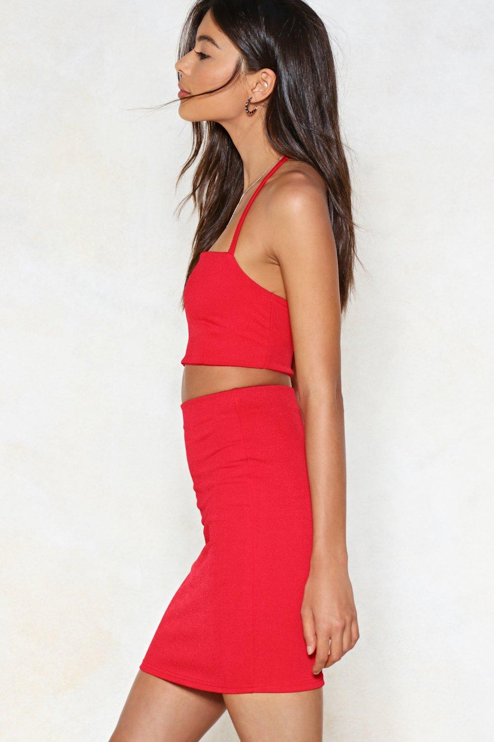 4b671b962414 Two Hot Two Handle Halter Top and Mini Skirt Set | Shop Clothes at ...